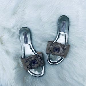 😍NEW LISTING Jimmy choo Neave Flower Crystal Flat